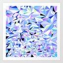 Periwinkle Polygons Art Print