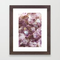 Amethyst And Gold Framed Art Print
