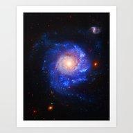 Pinwheel Galaxy Blue Art Print