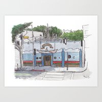 The Galley, Santa Monica Art Print