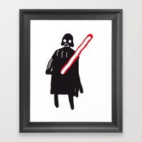 You Are Drawing Vader Framed Art Print