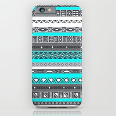 Ice Mint Blue Grey Aztec Pattern iPhone iPhone 6 Slim Case