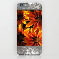 iPhone & iPod Case featuring Gazania named Kiss Orange Flame by JMcCombie