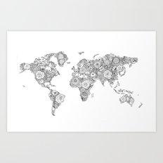 Worldmap Art Print