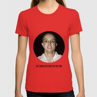 She Shaved Her Head For … Womens Fitted Tee Red SMALL