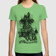 Drowsy Dragon Womens Fitted Tee Grass SMALL