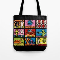 Keith Haring & star W.2 Tote Bag