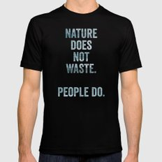 waste Mens Fitted Tee Black SMALL