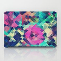 Fruity Rose - Fancy Colorful Abstraction Pattern Design (green pink blue) iPad Case