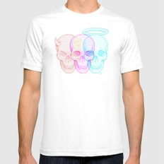 3 skulls Mens Fitted Tee White SMALL
