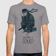 Do Me A Solid. Mens Fitted Tee Athletic Grey SMALL