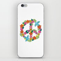 Flower Peace Sign iPhone & iPod Skin