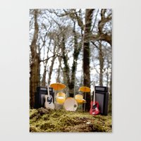 If a band plays in the forest ...... Canvas Print