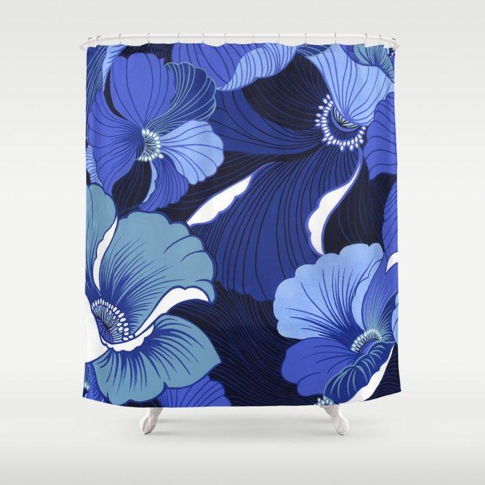 Blue Poppy Curtains