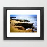 Seaside Cliffs Framed Art Print