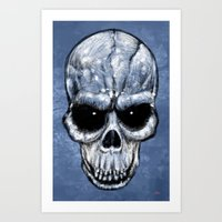 Skull Gaze Art Print