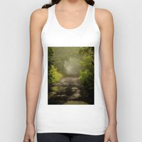 Misty Woodland Lane II Unisex Tank Top