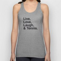 Live Love Laugh and Tennis Unisex Tank Top