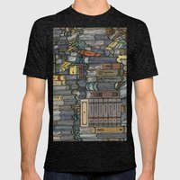 Closed Books Mens Fitted Tee Tri-Black SMALL
