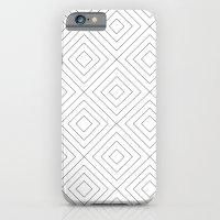 Squares white iPhone 6 Slim Case