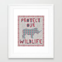 Protect Our Wildlife 23 Framed Art Print