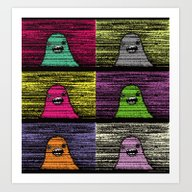 Slime (Pixel) Art Print