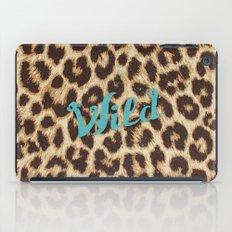 Leopard Print Teal Blue Wild Brown Girly Pattern iPad Case