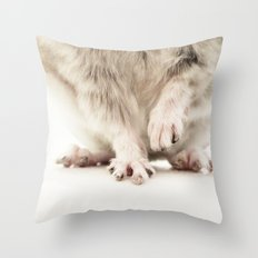 Chinchilla Hands = The Cutest Hands Throw Pillow