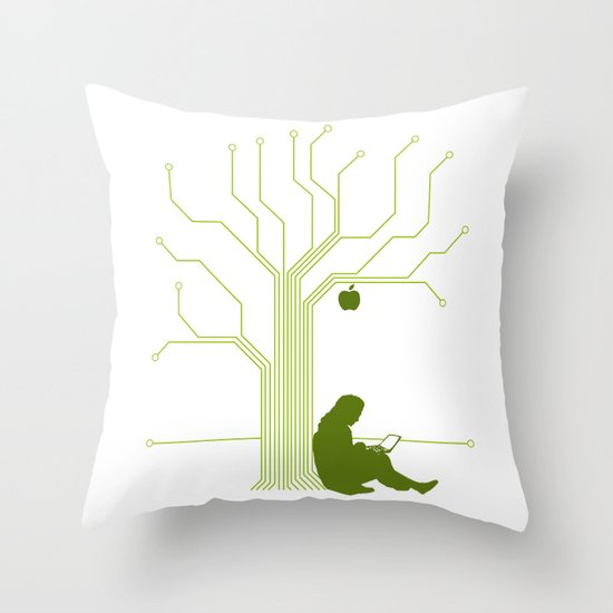 Apple CircuiTree Throw Pillow