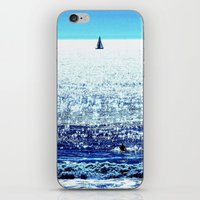 Sailboat and Swimmer iPhone & iPod Skin