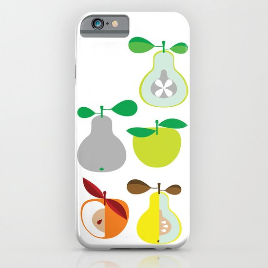 Apples and Pears / Geometrical 50s pattern of apples and pears iPhone & iPod Case