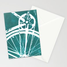 Teal Bike Stationery Cards