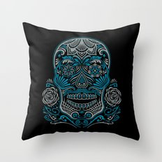 Magic Sugar Skull Throw Pillow