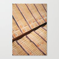 Thai Lottery Canvas Print