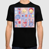 Happy Easter! Pattern Mens Fitted Tee Black SMALL