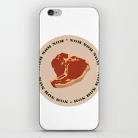 Steak...Nom Nom Nom! iPhone & iPod Skin