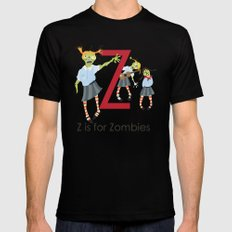 Z is for Zombies Mens Fitted Tee Black SMALL