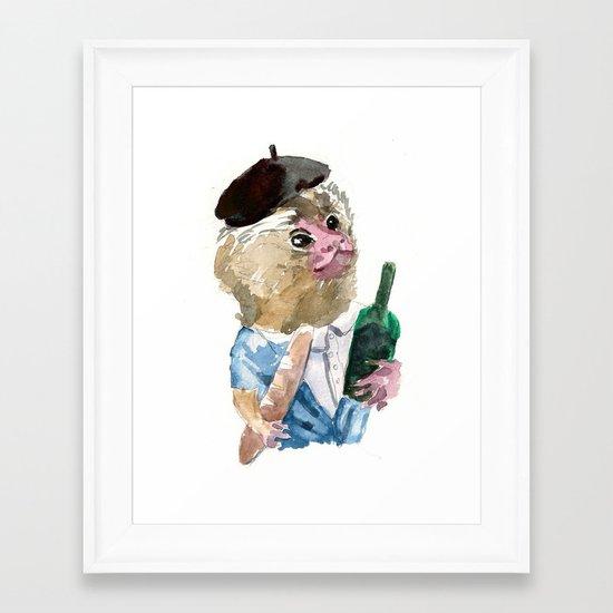 Mr. Marmoset Framed Art Print