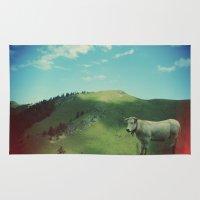 Mountain cow Rug