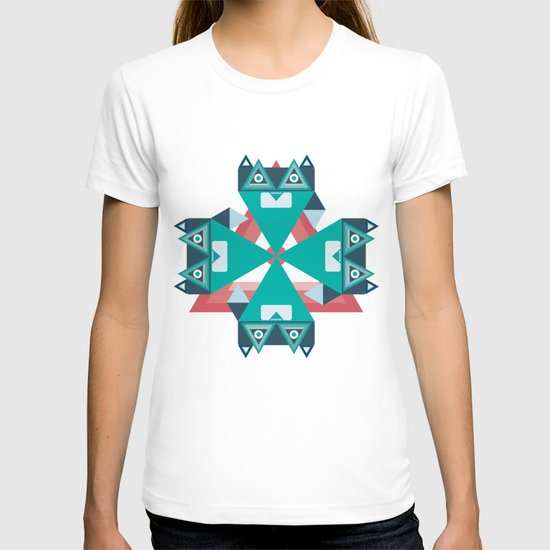 Biconic repetition T-shirt