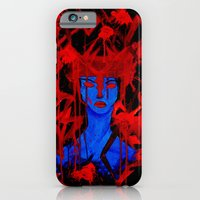 iPhone & iPod Case featuring Blue Warrior by Liz Martin