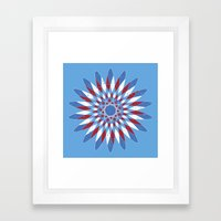 Distressed Kaleidoscope Framed Art Print