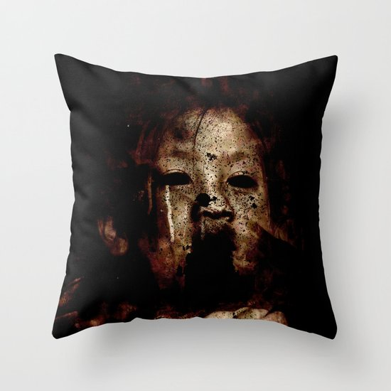 Born in a Burial Gown Throw Pillow