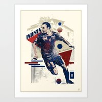 The Illusionist - Andrés Iniesta Luján Art Print