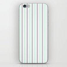 Mint & Gray Pinstripes iPhone & iPod Skin