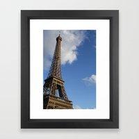 eiffel t0wer Framed Art Print