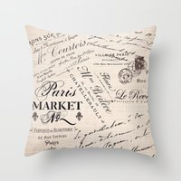 Paris Market 2 Throw Pillow