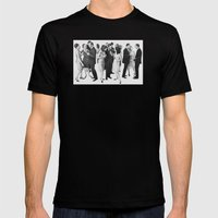 White People Mens Fitted Tee Black SMALL