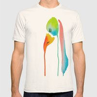 Bird Mens Fitted Tee Natural SMALL