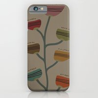 iPhone & iPod Case featuring Retro Flower II by Ted and Rose Design